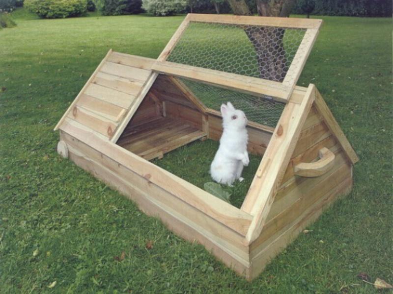 Как сделать домик для кролика в клетку