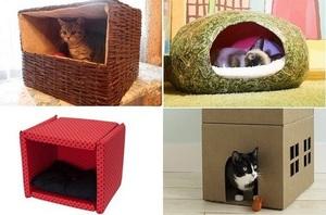 Как сделать домик для кошек фото 955