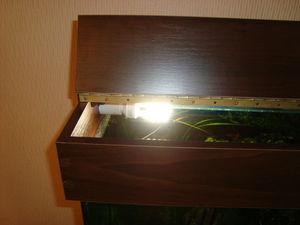 Очень удобный материал для крышки аквариума - ДСП.